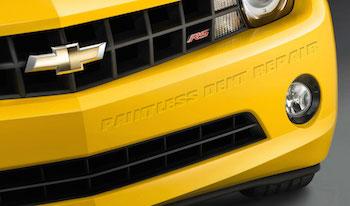 paintless dent removal edmonton robertson bodyworks yellow bumper